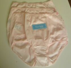 3 Dixie Belle By Velrose Full Cut Briefs Style 719 Size 11 Pink