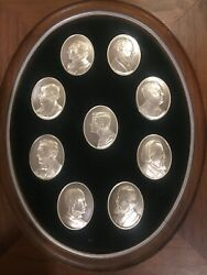 Franklin Mint John F Kennedy Profiles In Courage Medals 9 Coins