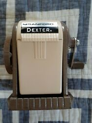 Sanford 51133 Dexter Pencil Sharpener, Table Or Wall-mounted, Tan, Six-position
