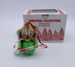 Vintage Steinbach Wooden Christmas Ornament Doctor Immunization Made In Germany