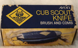 Vintage Avon Cub Scout Pocket Knife Brush And Comb Set With Box Boy Scouts