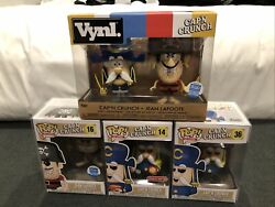 Funko Pop Ad Icons Captain Crunch Set Capandrsquon 14 36 16 Jean Lafoote And Vynl