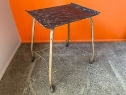 Vintage Mid Century Modern Mcm Rolling Tv Cart Television Stand Spaghetti String