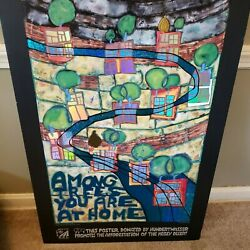 Rare Hundertwasser Among Trees You Are Home Foil Poster 1999 25 X 35