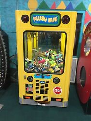 Coin Operated Plush Bus Crane Game