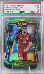 2017 Select Christian Pulisic 124 Psa 9 United States Green Die-cut /5 Psa 5