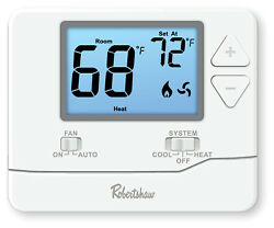 Robertshaw Rs8110 Digital Non-programmable Thermostat Single Stage - 1 H / 1 C