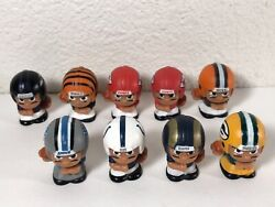Lot Of 9 Nfl Teenymates Rbs And Qbs, 2 Chiefs Packers Colts Ravens Rams Browns Etc