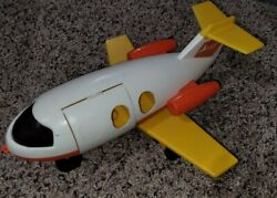 Vintage Fisher Price Airplane 1980 Toy Plane Plastic Red And Yellow Nice Cond