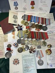 Wwii Complete Documented Group Of Warrant Officer-foreman 20 Awards 17 Documents