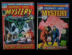 Lot Of 2 Marvel Comics Journey Into Mystery Vol 2. 1 And 5 1970's Horror