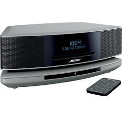 Bose Wave Soundtouch Music System Iv Pedestal Cd Player Remote Silver Soundtouch