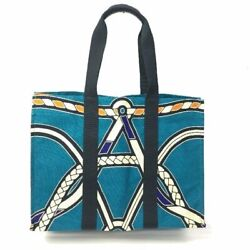 Hermes Beach Bag With Pouch Blue Turquoise System Tsujiya Pawn Shop 15015 _51521
