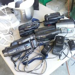 Lot Of 5 Sony Tr Series 8mm Camcorders. Untested. Parts/repair W/2 Ac Adapters