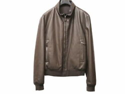 Hermes Reversible Leather Jacket Riders Brown Mens 54 Sizes 0169 Secondha _58994
