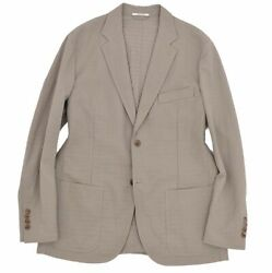 Hermes Single Buttons Tailored Jacket Blazer Outer Mens Made In Fran _59074