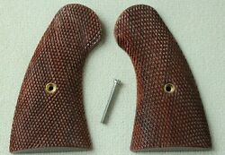 Checkered Wood For Colt 1917 And 1909 Us Army New Service Aftermarket Grips Fast