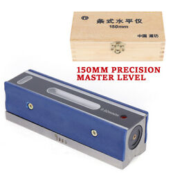 6and039and039 150mm Master Precision Level In Fitted Box For Machinist Tool 0.0002and039and039/10and039and039