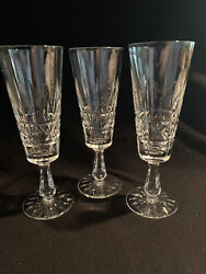 Waterford Crystal Kylemore Pattern Set Of 3 Champagne Flutes