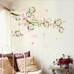 Removable Flowers Branches Wall Sticker Art Mural Wall Decal Home Room Decor DIY