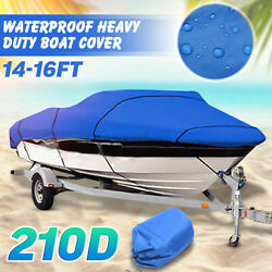 210d Ski Boat Cover Fishing Heavy Duty Waterproof Trailerable 17and039 18and039 19and039 V-hull