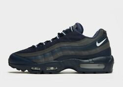 Nike Air Max 95 Essential Blue Grey With White Tick Menand039s Trainers All Sizes