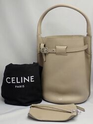 Celine Big Bag Bucket Shoulder With Pouch Light Taupe Used Secondhand _73096