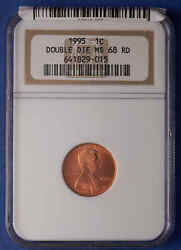 1995 Lincoln Cent Modern Ngc Ms 68 Red Double Die Obverse