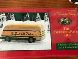 Its A Wonderful Life Holiday The Bedford Falls School Bus Christmas Village