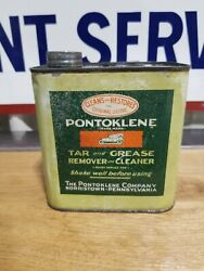 Vintage Pontoklene Tar And Grease Can Early Auto Gas Oil Norristown Pa Graphic