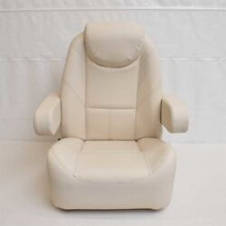 Avalon Pontoon Reclining Captains Helm Boat Seat White 126823wh - Tear