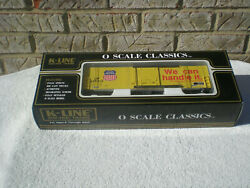 K-line Union Pacific Up O Scale Classic Boxcar Sealed And New