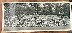 Vintage Ad-art Photo Studios Akron Oh Hoover Company Employee Picnic Families 1