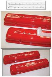 Full Size Chevy Valve Cover Decal Scripts Silver 283ci 1958 40-177247-1