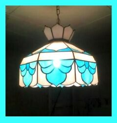 Stained Glass Style Reading Lamp Blue And White ,kitchen, Lamp Bar Lamp