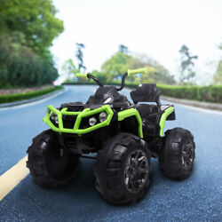 Electric Ride On Atv Car Toy Double Drive W/led Light Mp3 Playertfauxradio
