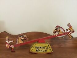 Courtland Rocking R Ranch Tin Litho Wind-up Toy