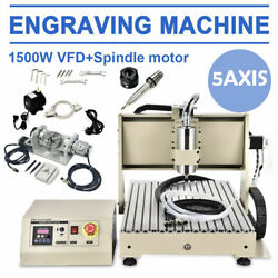 Usb 5 Axis Engraving Machine 6040 Cnc Router Drill 3d Carver W/remote Rc 1500w