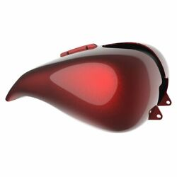 Hard Candy Hot Rod Red Flake Stretched Tank Cover For 08+ Harley Touring