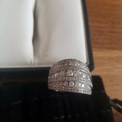 18 Carrot White Gold With Approx 48 Set Diamonds.