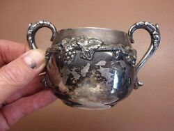 Vintage Old English Reproduction Sugar Bowl Marked Sp 3 47 Grapes/grape Leaves