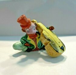 Vintage Anthropomorphic Salt And Pepper Shakers Set Monkey And Bass Fiddle Japan