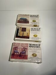 3 -the House Of Minatures X-acto Authentic Reproduction Doll Furniture 1977