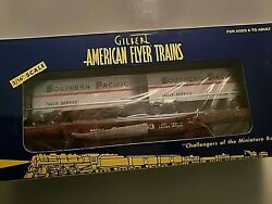 American Flyer 2003 Southern Pacific Flatcar With Trailers, Nib Amf 48532