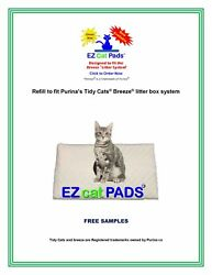 80 Ez Cat Pads Refill Pads Fits National Litter Box System 16.9 X 11.4 Trays