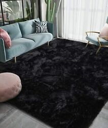 Luxury Fluffy Big Area Rug Modern Shag Rugs For Bedroom Living Room In 5 Colors