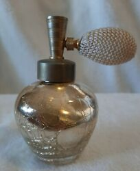 Devilbiss Perfume Atomizer Gold Cracked Mercury Glass Made In Canada Vintage