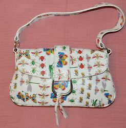 Made in Italy Small Hobo Bag Printed Leather Women Shoulder Handbags Purse $24.61