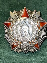 Authentic Wwii Order Of Alexander Nevsky 38437 Type 3 May 1945.