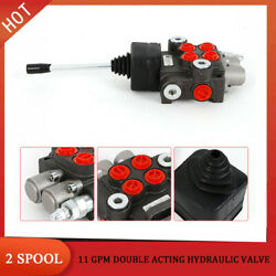 2 Spool Hydraulic Directional Control Valve 11gpm Small Tractors Double Acting